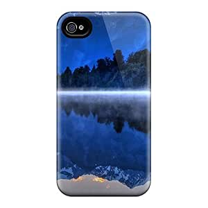 Durable Case For The Iphone 4/4s- Eco-friendly Retail Packaging(reflection In A Misty Lake)