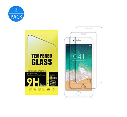 Screen Protector for iPhone 8,7,6s,6[4.7inch][2Pack],2.5D Edge Tempered Glass,Anti-Scratch,Case Friendly (iPhone 8/7/6s/6 Screen Protector) (Glass Iphone 6 Screen Protector)