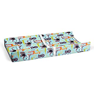 "Glenna Jean Jungle Babies 16"" x 32"" Changing Pad Cover for Baby Nursery"
