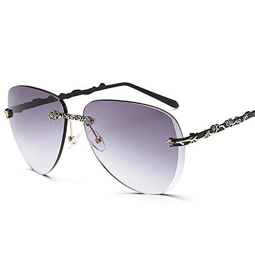Chahua Lunettes de soleil à la mode et élégant sans cadre de mode élégant femmes lunettes de soleil Lunettes de C