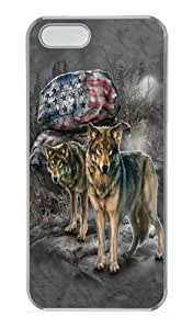Pride Rock Wolf Custom iPhone 5s/5 Case Cover Polycarbonate Transparent