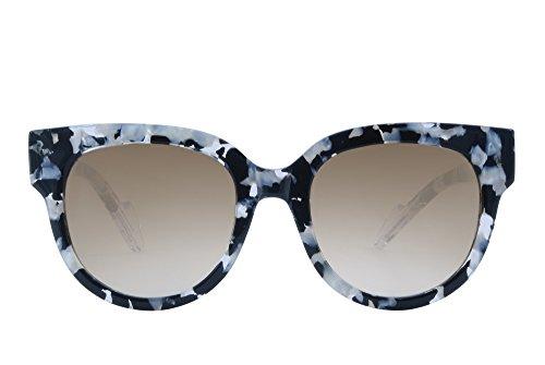 Farfalla Donna Modello Girasole Occhiale A Da Nero Esseduesunglasses Vintage Sole Bianco Ampio BwB8tHqx
