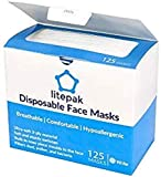 125-Pack Litepak Disposable Face Mask Premium