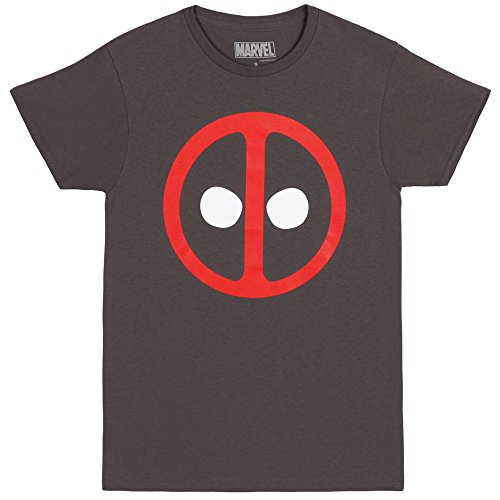 Deadpool Icon Logo Adult T-shirt - Charcoal (Large)