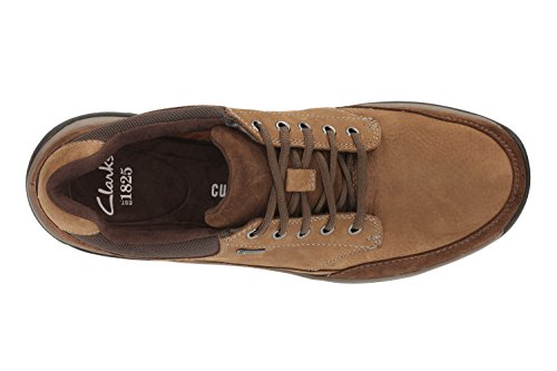 Clarks Casual Hombre Baystonego Gtx Nobuk Zapatos De Standard Passform Tamaño 44½