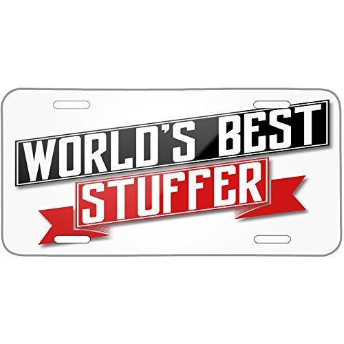 Worlds Best Stuffer Metal License Plate 6X12 Inch]()
