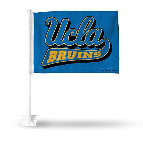 NCAA UCLA Bruins Car Flag, Light Blue, with White Pole