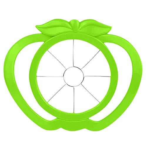 Apple Slicer Cutter Kitchen Fruit Tools Gadgets Plastic Pear Apple Corer Slicer Wedger Convenient Apple Slicer and Corer (Green)