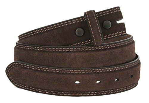 [Fullerton 351000 Genuine Full Grain Suede Leather Belt Straps 1-3/8