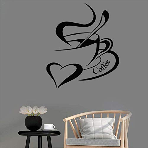Family-decal Wall Stickers Art Decor Decals Coffee Mug with Heart Type Stickers for Living Room Kid Nursery Bedroom