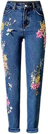 Sherri Women's Hi Rise Embroidery Crop Jeans