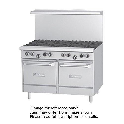 Garland U48-2G36LL U Series 48'' Gas Restaurant Range with (2) 32,000 BTU Open Burners, 36'' Griddle & (2) Space Saver Ovens by Garland/US Range