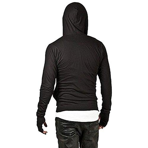 ZUEVI Men's Cool Side Zipper Assassin's Robe Hoodies