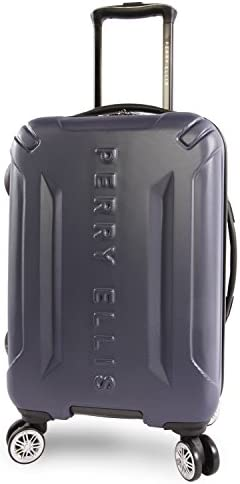 Perry Ellis Delancey II Hardside Carry-on Spinner Luggage, Navy