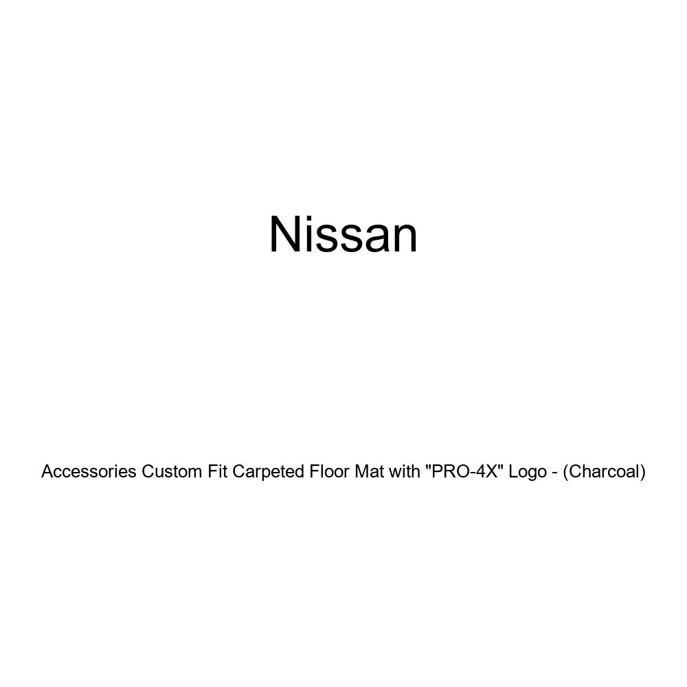 Genuine Nissan Accessories 999E2-BV300 Charcoal Nissan Genuine Accessories Custom Fit Carpeted Floor Mat with PRO-4X Logo