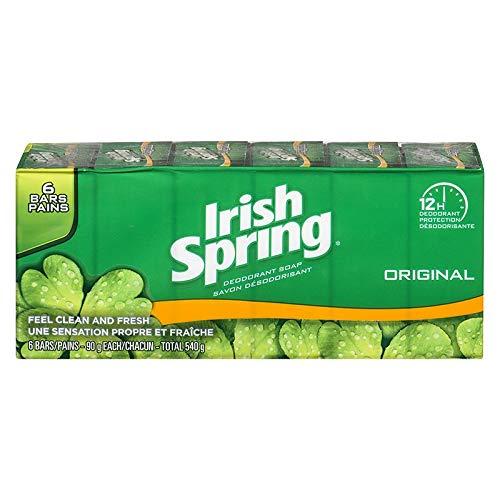 Total Body Deodorant Original (Irish Spring Deodorant Soap Original 6 x 90g Pack Of 2 - Total 12 Bars)