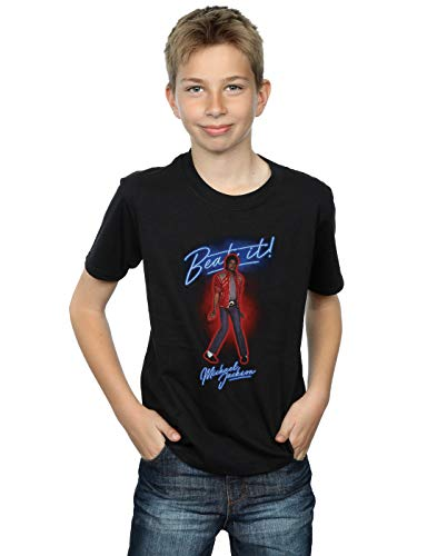 Michael Jackson Boys Beat It Smoke T-Shirt Black 5-6 Years