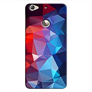 Cover It Up - Blue and Red Pixel Triangles LeEco Le 1s Hard Case