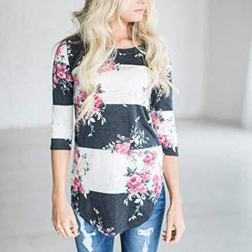Tempo Rotondo Autunno Collo Elegante A Libero Camicia Lunghe Primaverile Donna Maniche Tunica Camicetta Shirts Fiori Abbigliamento Bluse Maglietta Moda Bianca tgw86B
