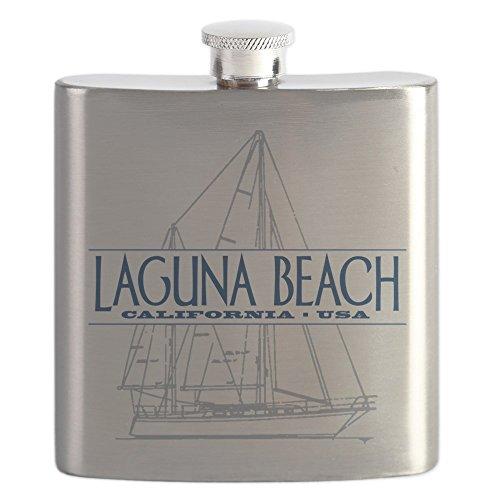 CafePress - Laguna Beach - - Stainless Steel Flask, 6oz Drinking - Stainless Laguna Steel Mug