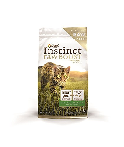 Nature's Variety Instinct Raw Boost Grain-Free Lamb & Salmon Meal Formula Dry Cat Food, 5.1 lb. Bag