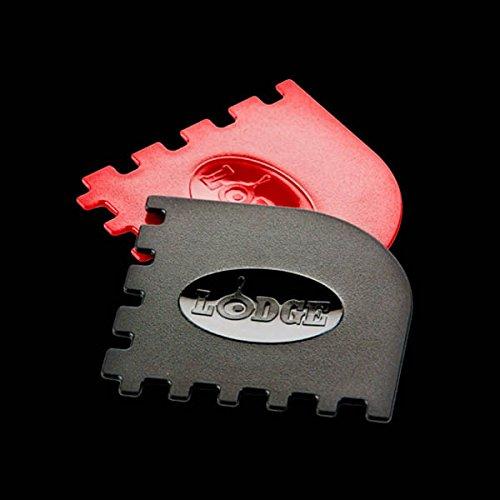 Lodge SCRAPERGPK Durable Grill Pan Scrapers, Red and Black,