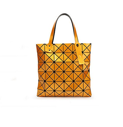 moda de Bronze Lady Personalidad Bolso Bolso hombro la Diamond Bag Orange Geometry de Bag Lingge BAO qO1EawWW