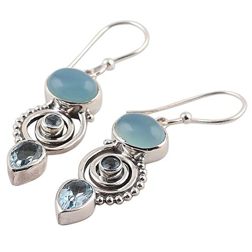 Light Sky Blue Waterdrop Earri...