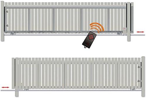 Bauer – Puerta corredera montar H=140, B=480, con accionamiento de S, Plateado: Amazon.es: Bricolaje y herramientas
