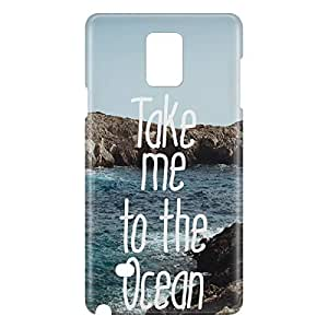 Loud Universe Samsung Galaxy Note 4 3D Wrap Around Take Me To The Ocean Print Cover - Multi Color