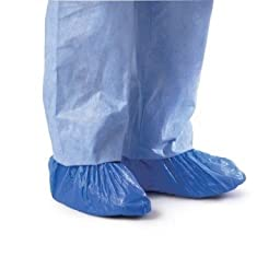 Medline CRI2010 Polyethylene Boot and Shoe Covers, Impervious, Blue (Pack of 1000)