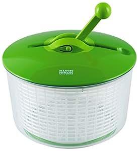 Kuhn Rikon Ratchet Salad Spinner, Green
