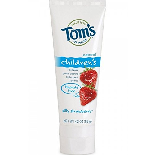 - Tom's Of Maine Natural Children's Fluoride Free Toothpaste, Silly Strawberry 4.20 oz (Pack of 8)