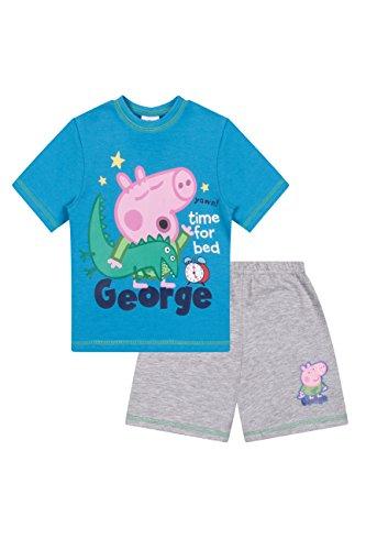 (George Pig Time for Bed Dinosaur Short Pajamas Pjs (3T))