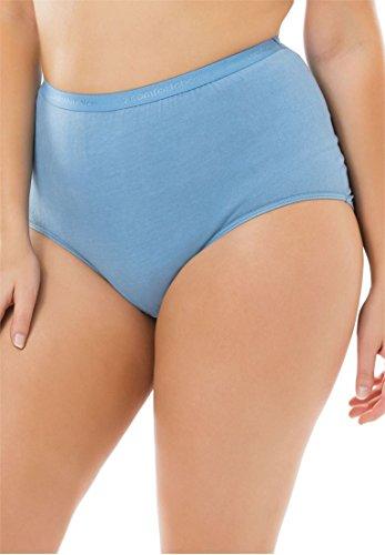 Comfort Choice Women's Plus Size 10-Pack Cotton Briefs Spring Pack,10