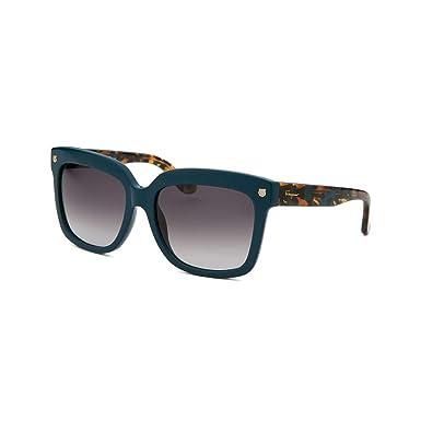 9c54e8f966f Image Unavailable. Image not available for. Color  Salvatore Ferragamo  Sunglasses SF676S 416 Petrol Blue 55 ...