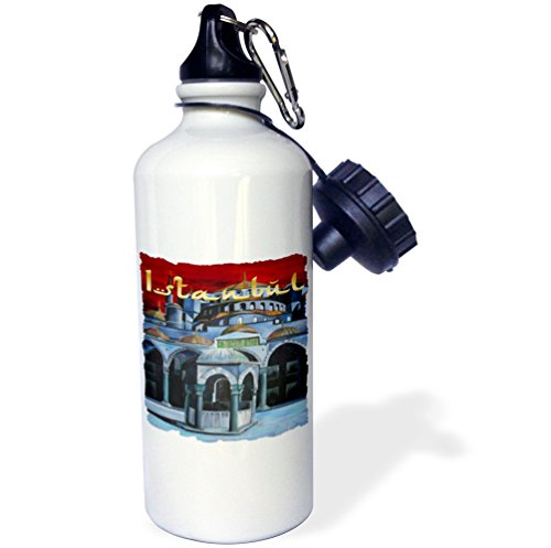 Ahmed Sultan Mosque (3dRose wb_28172_1 Istanbul Sultan Ahmed Mosque Sports Water Bottle, 21 oz, White)