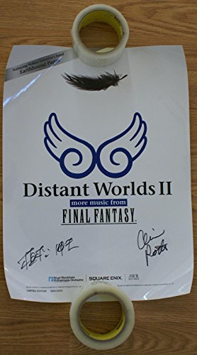 Distant Worlds II: more music from FINAL FANTASY Official Concert Poster Autographed by Nobuo Uematsu & Arnie Roth (Best Of Nobuo Uematsu)