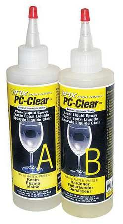Epoxy, Fast Setting, 16 oz., Clear by PC-CLEAR (Image #1)