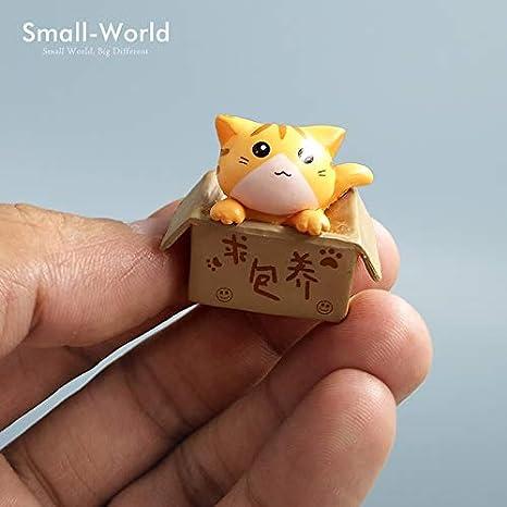 Xennos - Figura Decorativa de Gato en Miniatura para ...