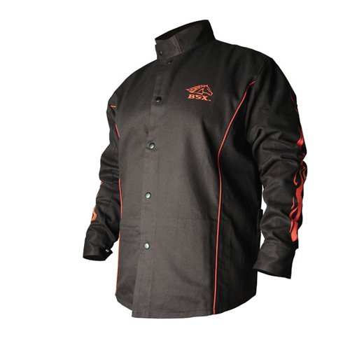 REVCO BX9C-XXL XX-Large Black/Red BSX Stryker FR Welding Jacket