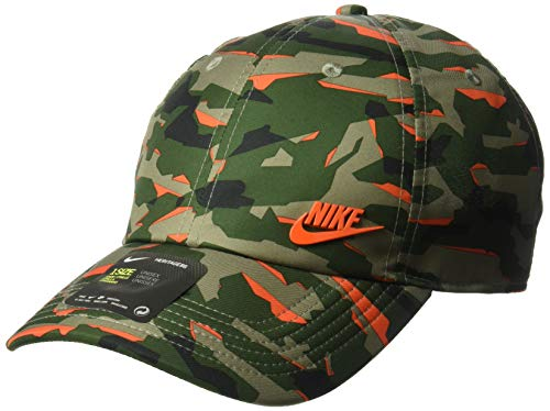 b8ce69ab68 Nike Unisex NSW Aerobill H86 Cap, Fir/Team Orange, Misc
