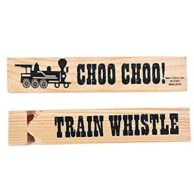 Rhode Island Novelty Wooden Train Whistles: Toys & Games