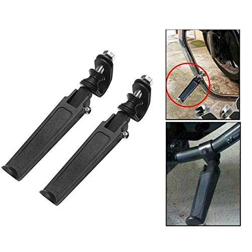 Nrpfell 1Pair Highway Engine Guard Crash Bar Foot Pegs For Harley Honda Suzuki Motorcycle Accessories Part Foot Rest Car Styling black