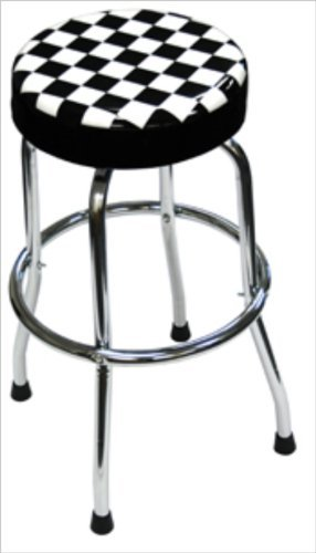 OKSLO Atd tools atd-81055 shop stool with checker design