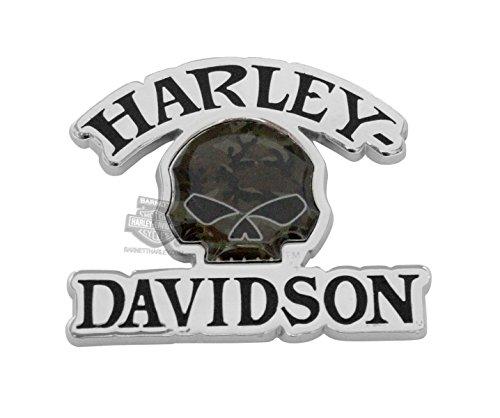 Harley Davidson Camo Willie G Skull Pin
