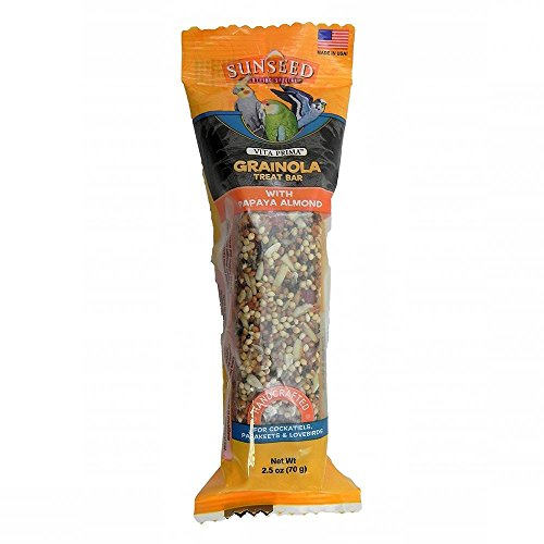 Sun Seed Company BSS85121 Small Hookbills Grainola Bird Honey Sticks Treat Bar, 2.5-Ounce, Papaya (Grainola Bird)