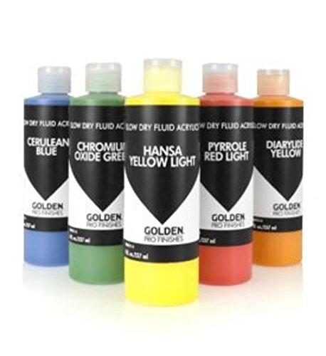 Golden Pro Finishes Slow-Drying Fluid Acrylics (4-Ounce, Burnt (Burnt Umber Glaze)