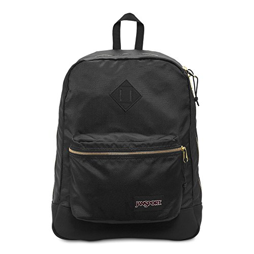 JanSport Super FX Backpack - Black/Gold