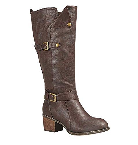 Avenue Kvinna Greene Foldover Tall Boot Brun